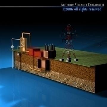 geotermic plant cutaway 3d model 3ds dxf c4d obj 79046
