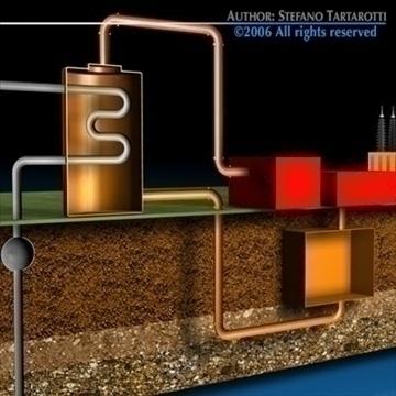 geotermic plant cutaway 3d model 3ds dxf c4d obj 79047