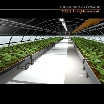 greenhouse 3d model 3ds dxf c4d obj 92374