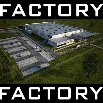industrial building full scene render redy 3d model 3ds max dwg c4d lwo other hrc xsi obj 111894