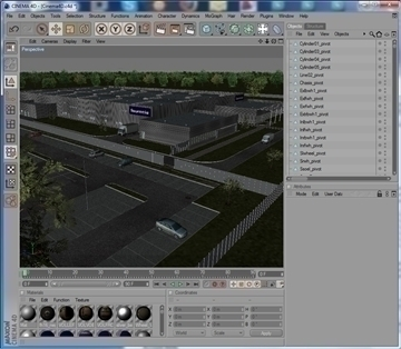 industrial building full scene render redy 3d model 3ds max dwg c4d lwo other hrc xsi obj 111900