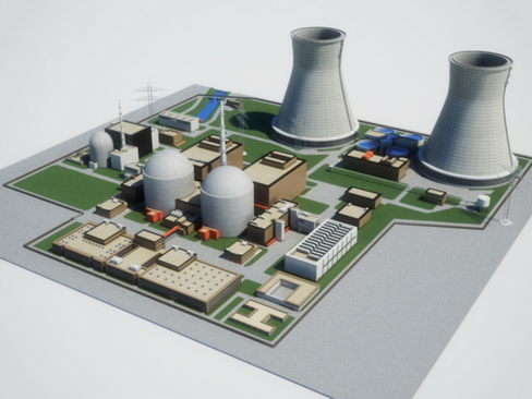 nuclear power plant 3d model 3ds max c4d lwo ma mb obj 118241