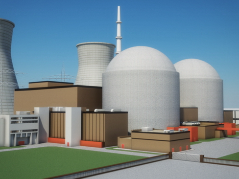 nuclear power plant 3d model 3ds max c4d lwo ma mb obj 118243