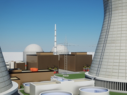 nuclear power plant 3d model 3ds max c4d lwo ma mb obj 118245