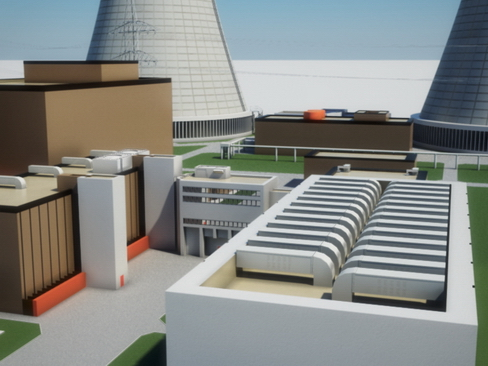 nuclear power plant 3d model 3ds max c4d lwo ma mb obj 118246