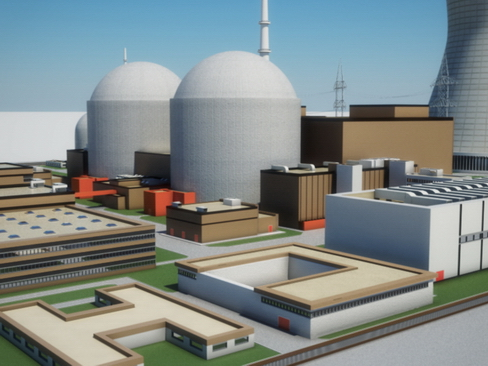 nuclear power plant 3d model 3ds max c4d lwo ma mb obj 118247