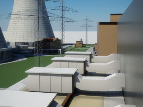 nuclear power plant 3d model 3ds max c4d lwo ma mb obj 118254