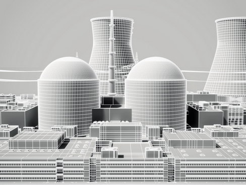 nuclear power plant 3d model 3ds max c4d lwo ma mb obj 118256