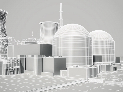 nuclear power plant 3d model 3ds max c4d lwo ma mb obj 118257