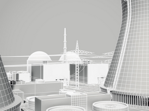 nuclear power plant 3d model 3ds max c4d lwo ma mb obj 118259
