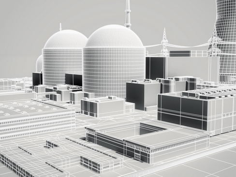 nuclear power plant 3d model 3ds max c4d lwo ma mb obj 118261