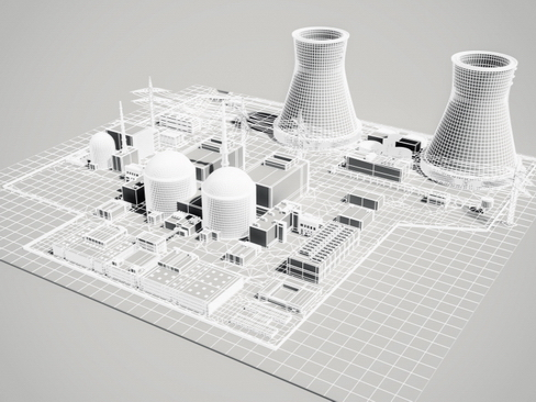 nuclear power plant 3d model 3ds max c4d lwo ma mb obj 118262