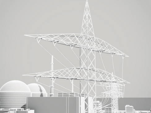 nuclear power plant 3d model 3ds max c4d lwo ma mb obj 118263