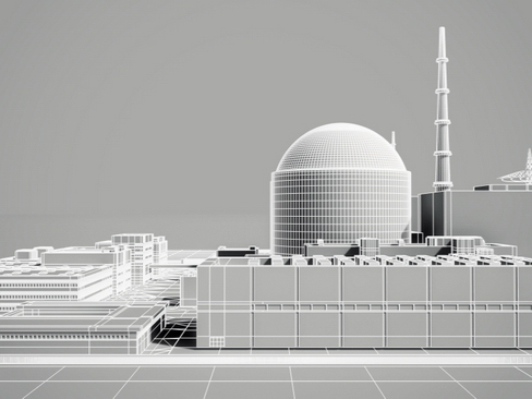 nuclear power plant 3d model 3ds max c4d lwo ma mb obj 118266