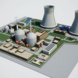 Nuclear Power Plant ( 136.9KB jpg by Behr_Bros. )