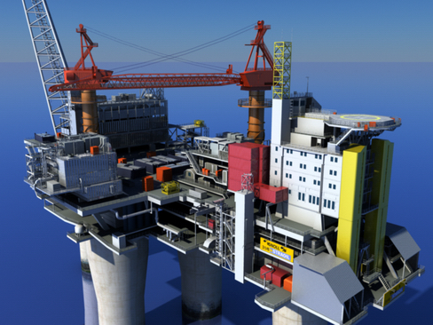 oil gas platform 3d model 3ds max c4d lwo obj 118270