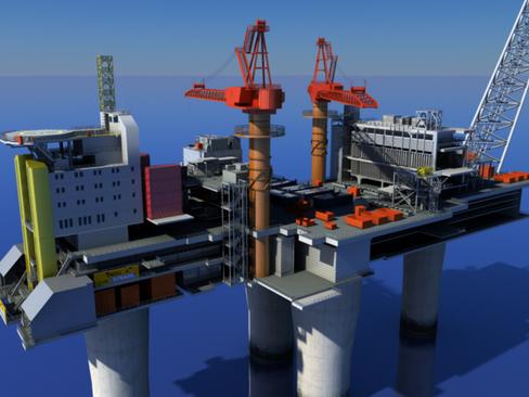 oil gas platform 3d model 3ds max c4d lwo obj 118272