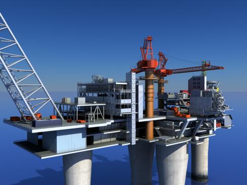 oil gas platform 3d model 3ds max c4d lwo obj 118273
