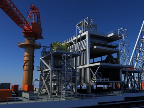 oil gas platform 3d model 3ds max c4d lwo obj 118275
