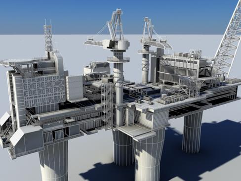 oil gas platform 3d model 3ds max c4d lwo obj 118278