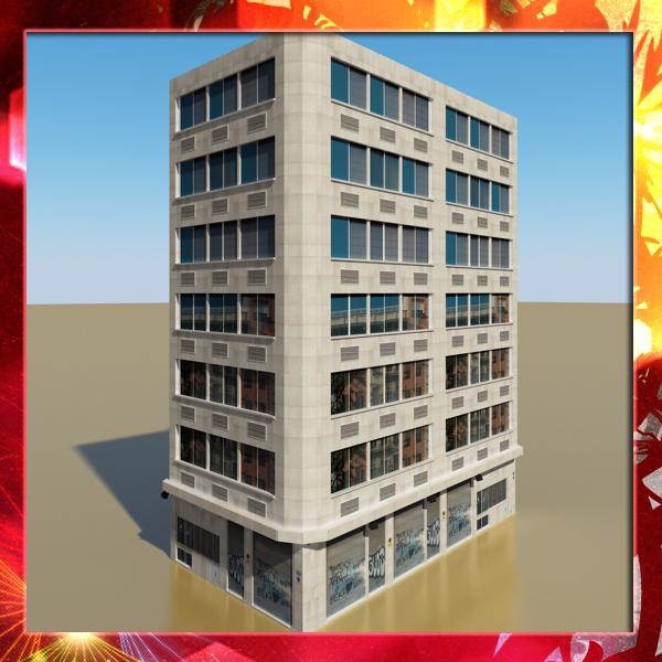 photorealistic бага поли оффисын барилга 10 3d загвар 3ds max fbx obj 148927