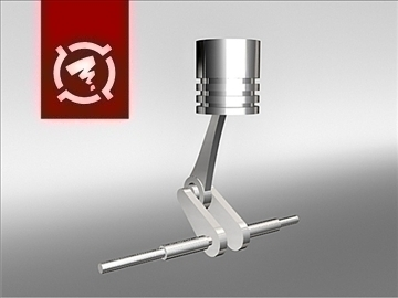 piston animation 3d model max 96547