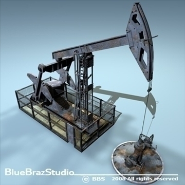 pumpjack 3d model 3ds dxf c4d obj 89569
