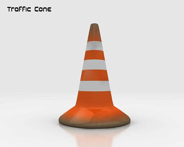 road traffic cone 3d model 3ds max fbx obj 115606
