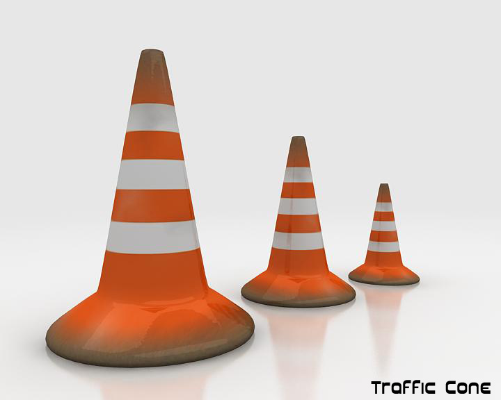 road traffic cone 3d model 3ds max fbx obj 115607