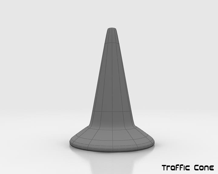road traffic cone 3d model 3ds max fbx obj 115608
