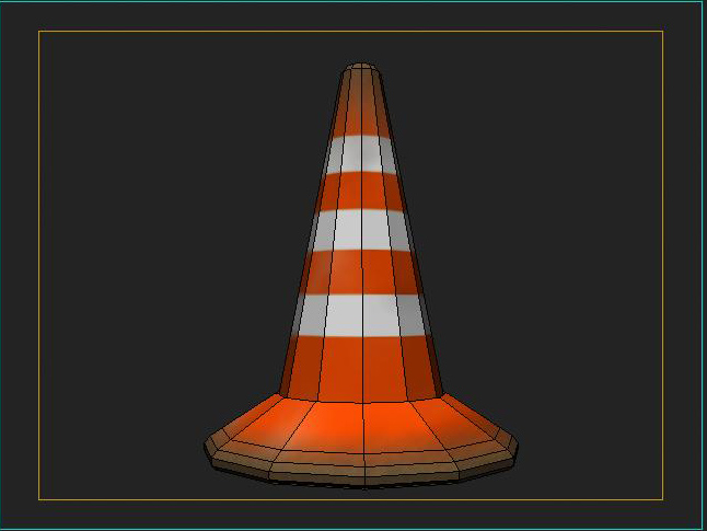 road traffic cone 3d model 3ds max fbx obj 115609
