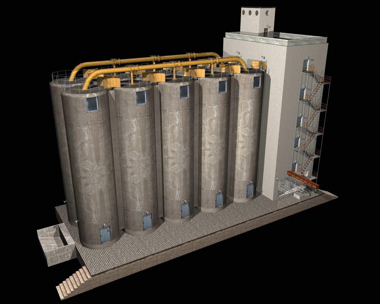 silo2 3d model 3ds 164456