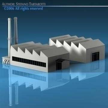 stilizedcity-factory 3d model 3ds dxf c4d obj 78581
