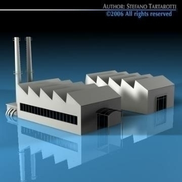 stilizedcity-factory 3d model 3ds dxf c4d obj 78582