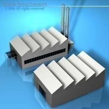 stilizedcity-factory 3d model 3ds dxf c4d obj 78586