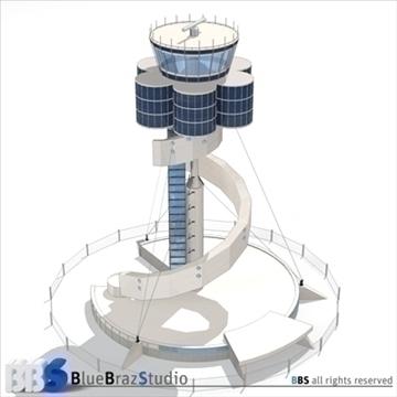 Sydney lidostas vadības tornis 3d modelis 3ds dxf c4d obj 105454