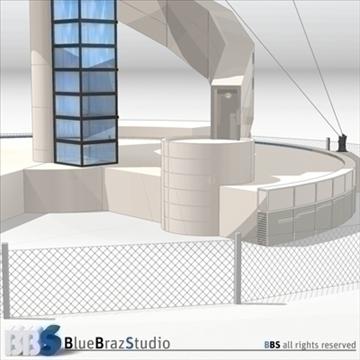 Sydney lidostas vadības tornis 3d modelis 3ds dxf c4d obj 105455