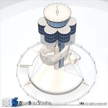 Sydney lidostas vadības tornis 3d modelis 3ds dxf c4d obj 105456