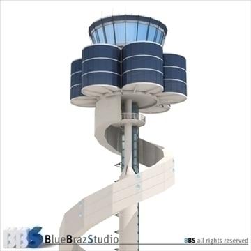 Sydney lidostas vadības tornis 3d modelis 3ds dxf c4d obj 105457