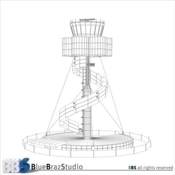 Sydney lidostas vadības tornis 3d modelis 3ds dxf c4d obj 105458