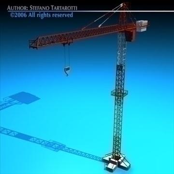 tower crane 3d model 3ds dxf c4d obj 82587