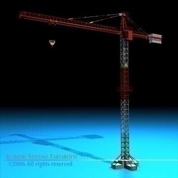 tower crane 3d model 3ds dxf c4d obj 82588