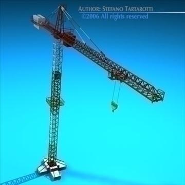 tower crane 3d model 3ds dxf c4d obj 82589