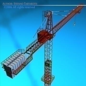 tower crane 3d model 3ds dxf c4d obj 82590