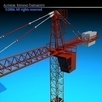 tower crane 3d model 3ds dxf c4d obj 82591