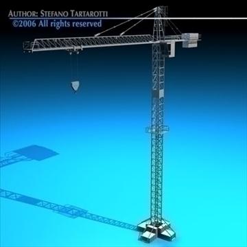 tower crane 3d model 3ds dxf c4d obj 82592