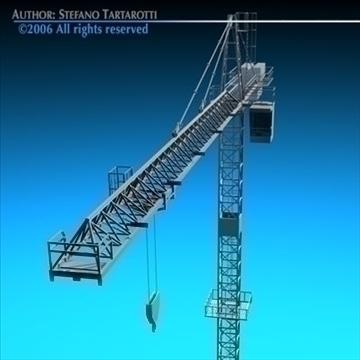 tower crane 3d model 3ds dxf c4d obj 82593