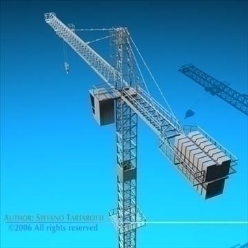 tower crane 3d model 3ds dxf c4d obj 82594