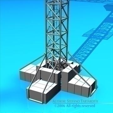 tower crane 3d model 3ds dxf c4d obj 82595