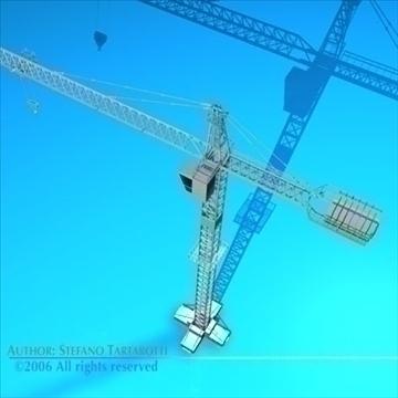 tower crane 3d model 3ds dxf c4d obj 82596